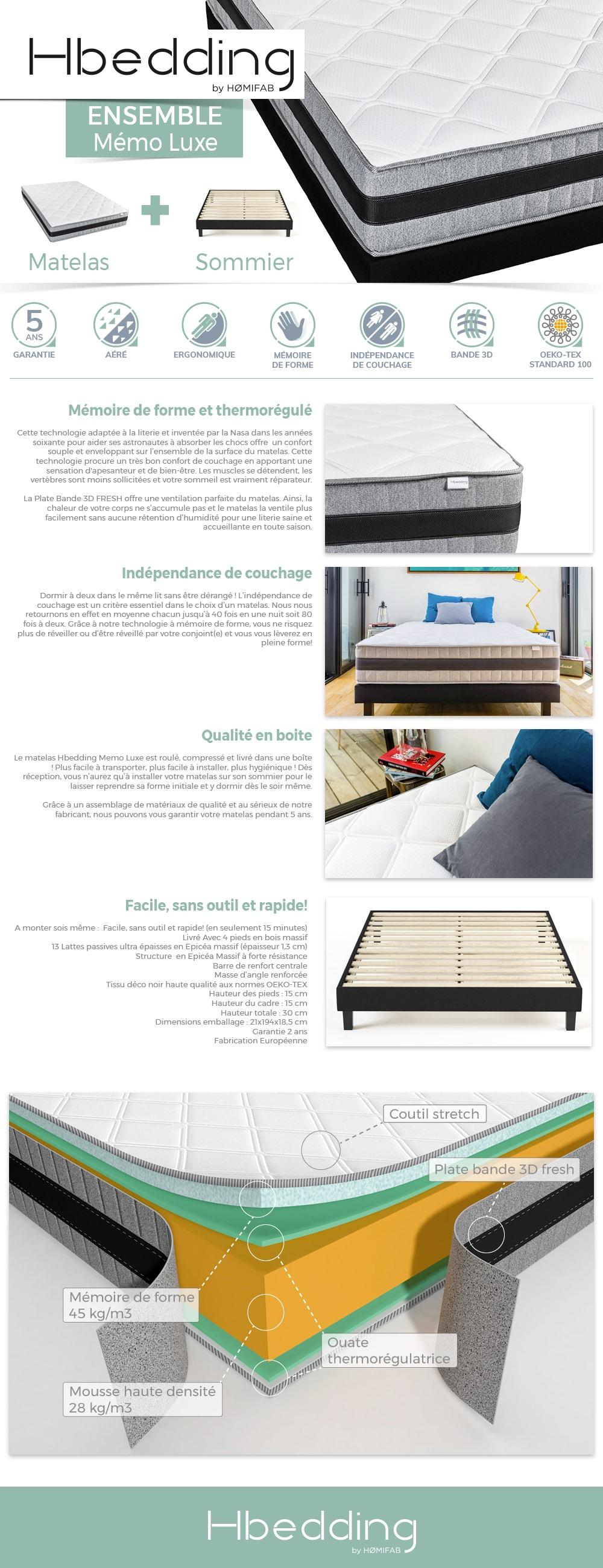 ensemble matelas et sommier hbedding ensemble matelas. Black Bedroom Furniture Sets. Home Design Ideas